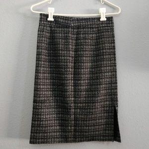Trina Turk 27 black & white weaved pencil skirt